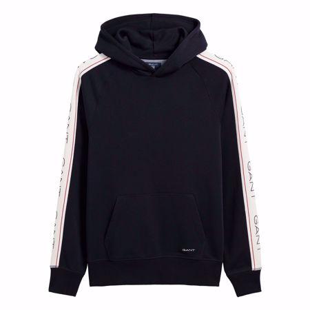 GANT GENSER - O1 gant archive stripe sweat hoodie