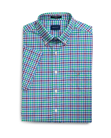 The broadcloth 3col gingham reg ss bd