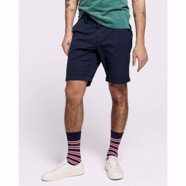 GANT-REGULAR SUNBLEACHED SHORTS-MARINE