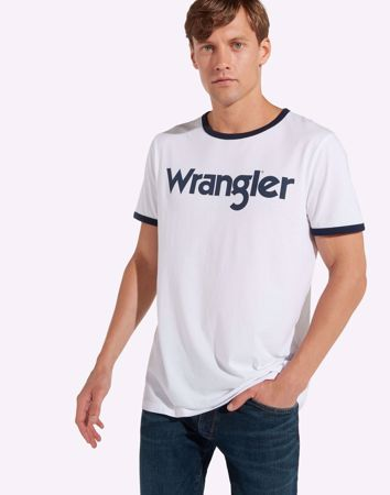WRANGLER-KABEL TEE-WHITE