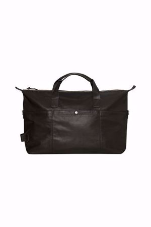 Matinique-Weekender L Leather Bag-Black
