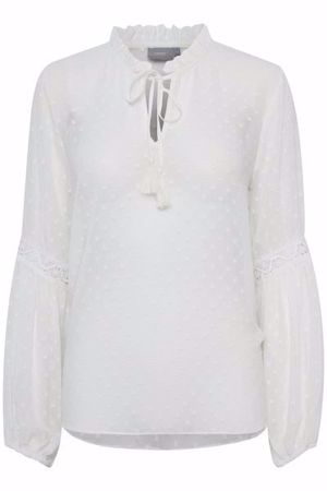 B.Young-BYHEIDI BLOUSE-Off White