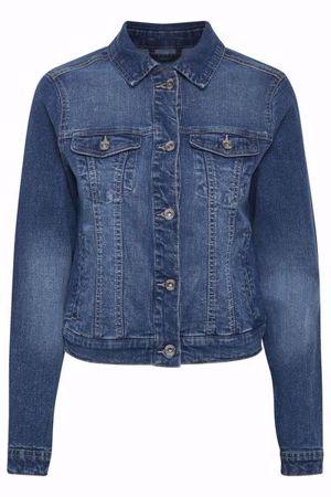 Cream-Lisa Denim Jacket-Rich Blue Denim