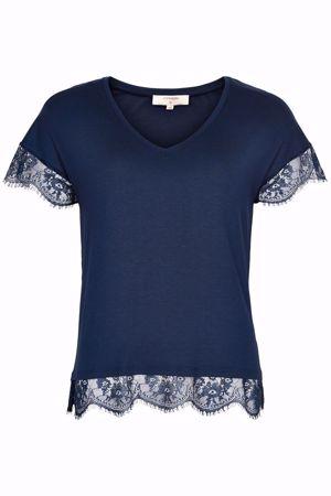 Cream-Conellia Tshirt-Royal Navy Blue