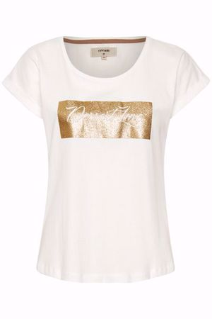 Cream-Debbie Tshirt-Chalk