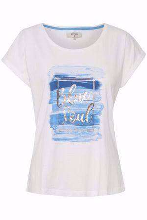 Cream-Debbie Tshirt-Provence Blue