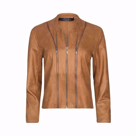 One Two & Luxzuz-Athena Coated Suede Jacket-Leather