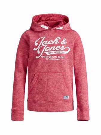JACK&JONES JUNIOR-LOGO GUTTE SWEATSHIRT-TANGO-RED