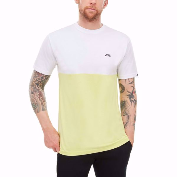 VANS-COLORBLOCK T-SHIRT-WHITE-SUNNY-LIME