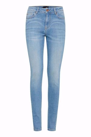 Pulz-Kamilla Highwaist Super Skinny-Light Blue