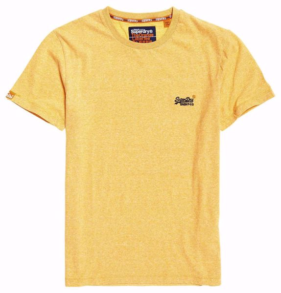 Superdry-orange label tee -Yellow Grit