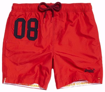 Superdry- water polo swimshorts -Flag Red