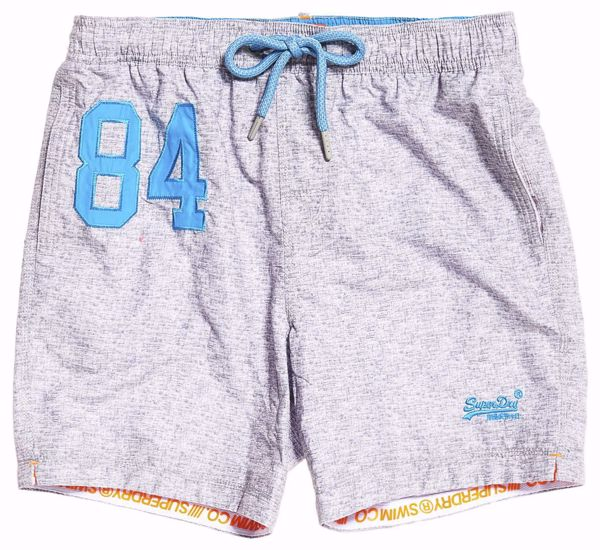 Superdry-water polo swimshorts -Platinum Grit