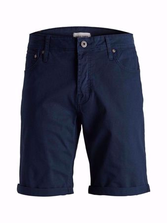 JACK&JONES-REGULAR FIT- BOMULLSHORTS-BLACK-IRIS