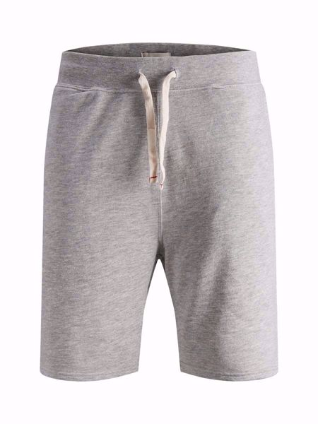 JACK&JONES-KLASSISKE SWEATSHORTS-LIGHT-GREY-MELANGE