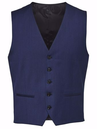 BILL VEST TIL DRESS - Blue depths