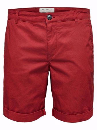 SELECTED HOMME- PARIS REGULAR FIT - SHORTS-BRICK-RED