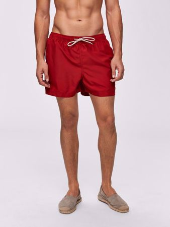 SELECTED HOMME-BASIC - BADESHORTS-RIO-RED