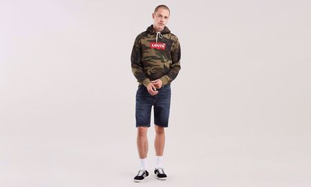 LEVI'S-502™ TAPER HEMMED SHORTS-SATURN