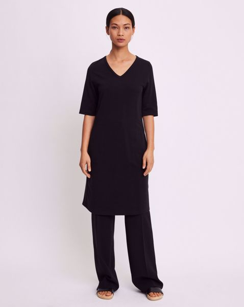 Sort Filippa K Double Face T Shirt Dress Kjoler