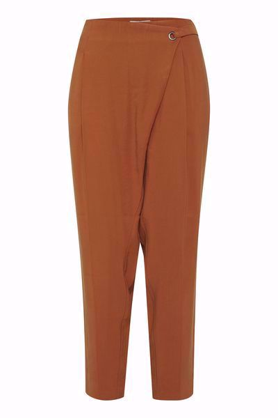 DRANELLA-DRDARCY 3 PANTS-LEATHER-BROWN