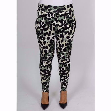 Isay-Karma Pant-Green Animal