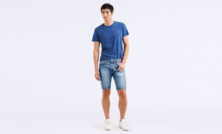 LEVI'S-502™ TAPER HEMMED SHORTS-HARBOUR