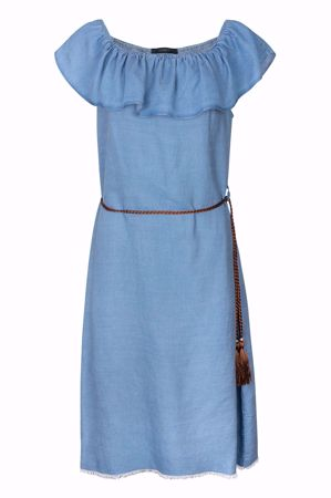 One Two & Luxzuz-Katina Dress-Faded Denim