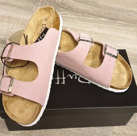 Duffy - Sandal slip-in i rosa farge