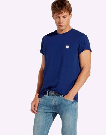 WRANGLER-SIGN OFF TEE-BLUE-DEPTHS