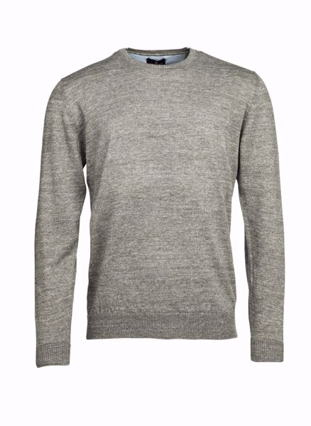 HANSEN&JACOB-CREWNECK LINEN KNIT-GREY