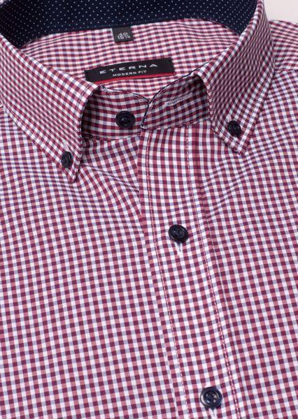 ETERNA-LONG SLEEVE SHIRT MODERN FIT POPLIN RED/WHITE CHECKED