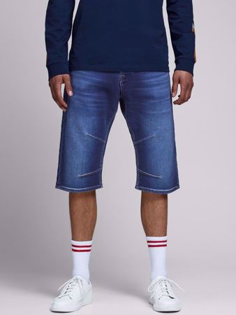 JACK&JONES-REGULAR FIT LONG OLASHORTS-BLUE-DENIM