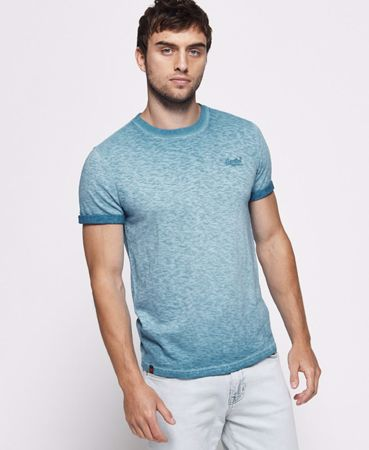 Superdry- low roller tee -Navy Sunshine