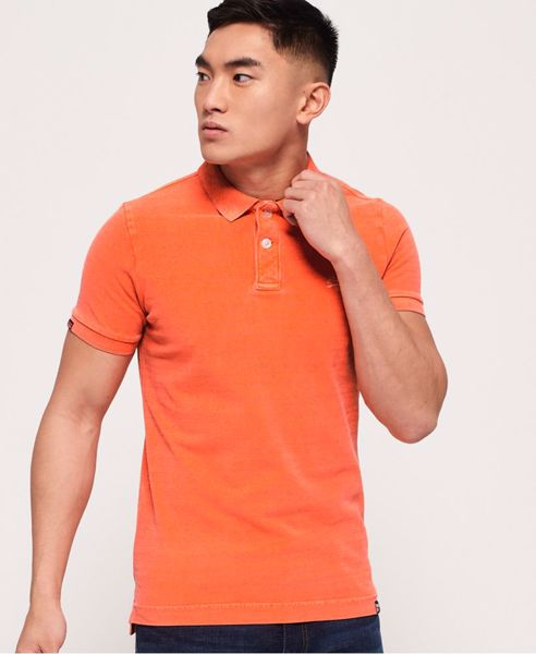 Superdry-vintage destroyed pique - fluro orange