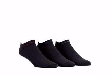 CALVIN KLEIN-3PK   ANKEL SOKKER -BLACK- size 40-46