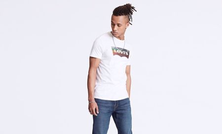 LEVI'S-HOUSEMARK GRAPHIC TEE-WHITE-WHITE