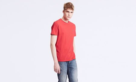 LEVI'S-ORIGINAL HOUSEMARK TEE-BRILLIANT-RED-RED