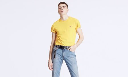LEVI'S-HOUSEMARK TEE-BRILLIANT-YELLOW-YELLOW