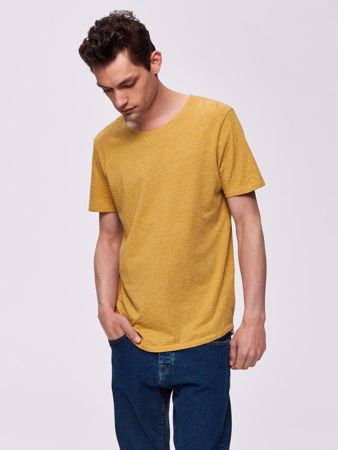 SELECTED HOMME-ORGANIC COTTON - T-SHIRT-HONEY