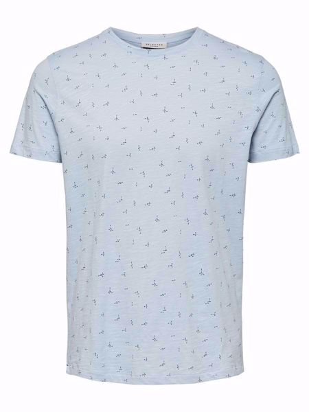 SELECTED HOMME-ABSTRAKT PRINT T-SKJORTE-SKYWAY