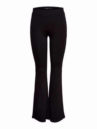 ONLY-FLARE TROUSERS-BLACK