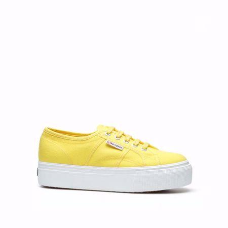 Se TILBUD på Summer Sneakers Wedges Canvas skos dame