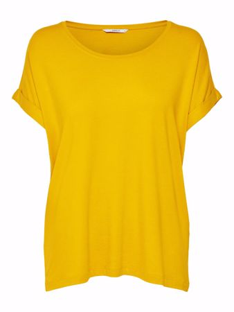 Only-ONLMOSTER S/S O-NECK TOP-Golden Yellow