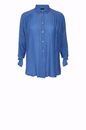 One Two & Luxzuz-Leane Shirt-Chambray blue