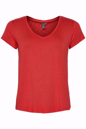 Culture-Poppy Vneck-Rococco Red