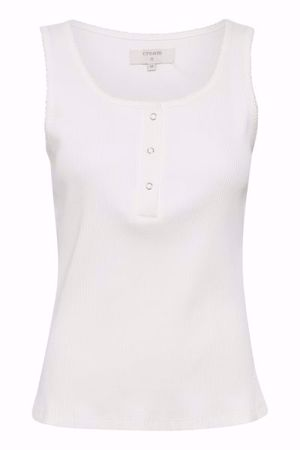 Cream-katja rib top-Chalk