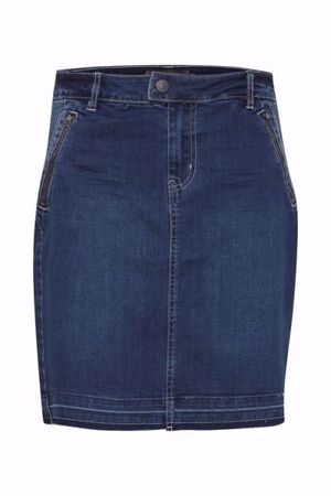 Fransa-FRcostitch  Skirt-Simple blue deni