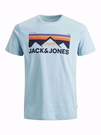 JACK&JONES-MOUNTAIN LOGO PRINT T-SHIRT-FORGET-ME-NOT