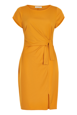 iN Front-Rosy dressplain-Warm yellow